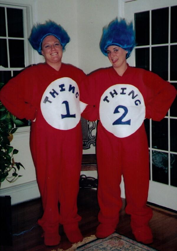 footed pajamas thing one and thing two
