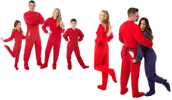 Onesie Footed Pajamas for the family