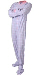 One piece footed pajamas: Cotton+Flannel+Footed+Pajamas