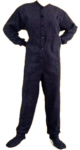 Micro-Polar Fleece Adult Footed Pajamas in Navy Blue (202) - PJs with Feet