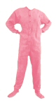Micro-Polar Fleece Adult Footed Pajamas in Pink (205) - PJs with Feet