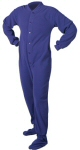 Micro-Polar Fleece Adult Footed Pajamas in Purple (206) - PJs with Feet