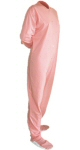 Jersey Knit Adult Footed Pajamas in Pastel Pink (303) - PJs with Feet