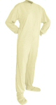 Jersey Knit Adult Footed Pajamas in Ivory (307) - PJs with Feet