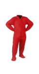 Red Fleece Infants/Toddlers - PJs with Feet
