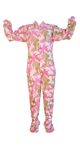 Infant/Toddler Pink Camouflage Pajamas - PJs with Feet