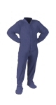 Navy Fleece Kids - PJs with Feet