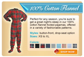 Cotton Flannel Footie Collection