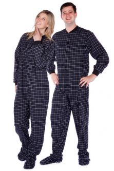 231fc1517d Cotton Flannel Footed Adult Pajamas  Big Feet Onesie Footed Pajamas