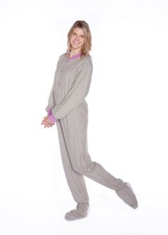 Women Footed Pajamas & Onesies: Big Feet Footed Onesie Pajamas