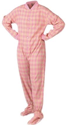2-piece adult foot pajama