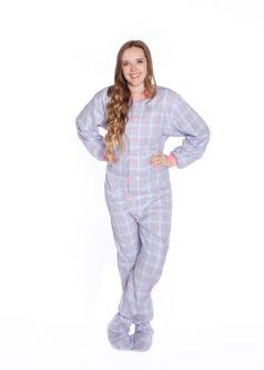 Cotton Flannel Footed Adult Pajamas Big Feet Onesie