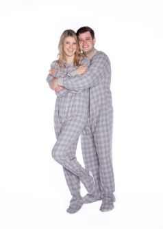 Cotton Flannel Footed Adult Pajamas Big Feet Onesie