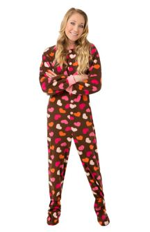 9ee171c807 Fleece Onesie Footed Pajamas for Men   Women  Big Feet Onesie Footed ...
