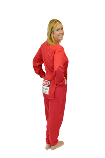 f50fc97b100f Red Union Suit with Funny Butt Flap