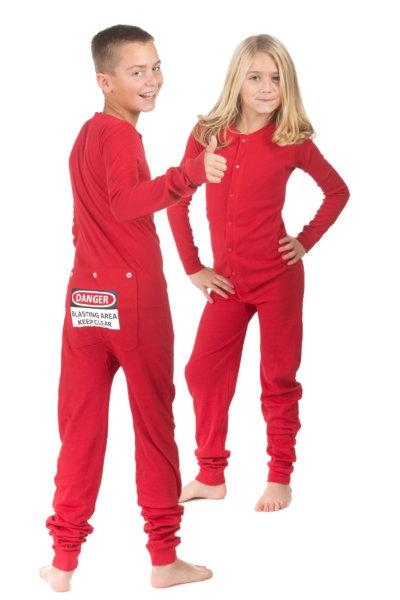 434deeadd26c Kid s Red Union Suit Pajamas