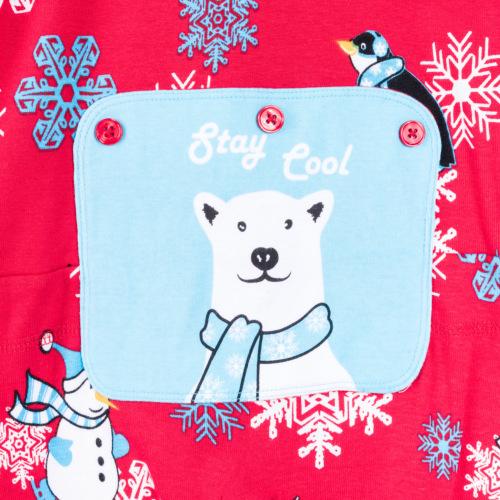 cb451a9bdf Winter Fun Penguins Union Suit Boys   Girls Onesie Pajamas Stay Cool Polar Rear  Flap  Big Feet Onesie Footed Pajamas