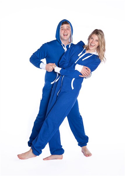 Hoodie One Piece Jumpsuit Royal Blue