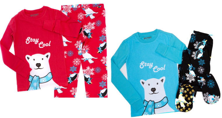 2 Piece Footed Pajamas Stay Cool Polar Bear. Available In Blue or ...