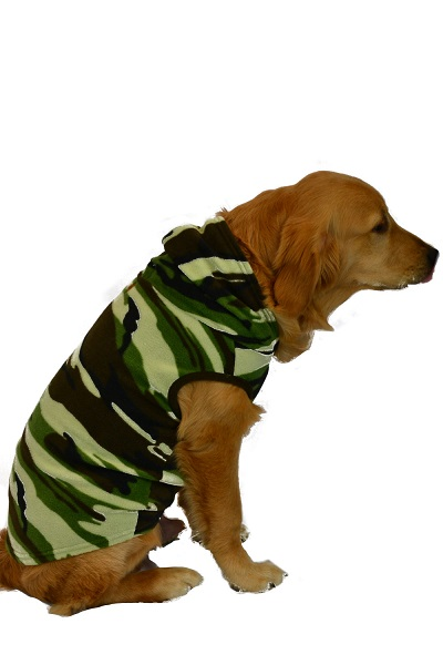 Pet Camouflage Micro Fleece Hoodie for Dogs   Cats  Big Feet Onesie Footed  Pajamas 35e1329c4
