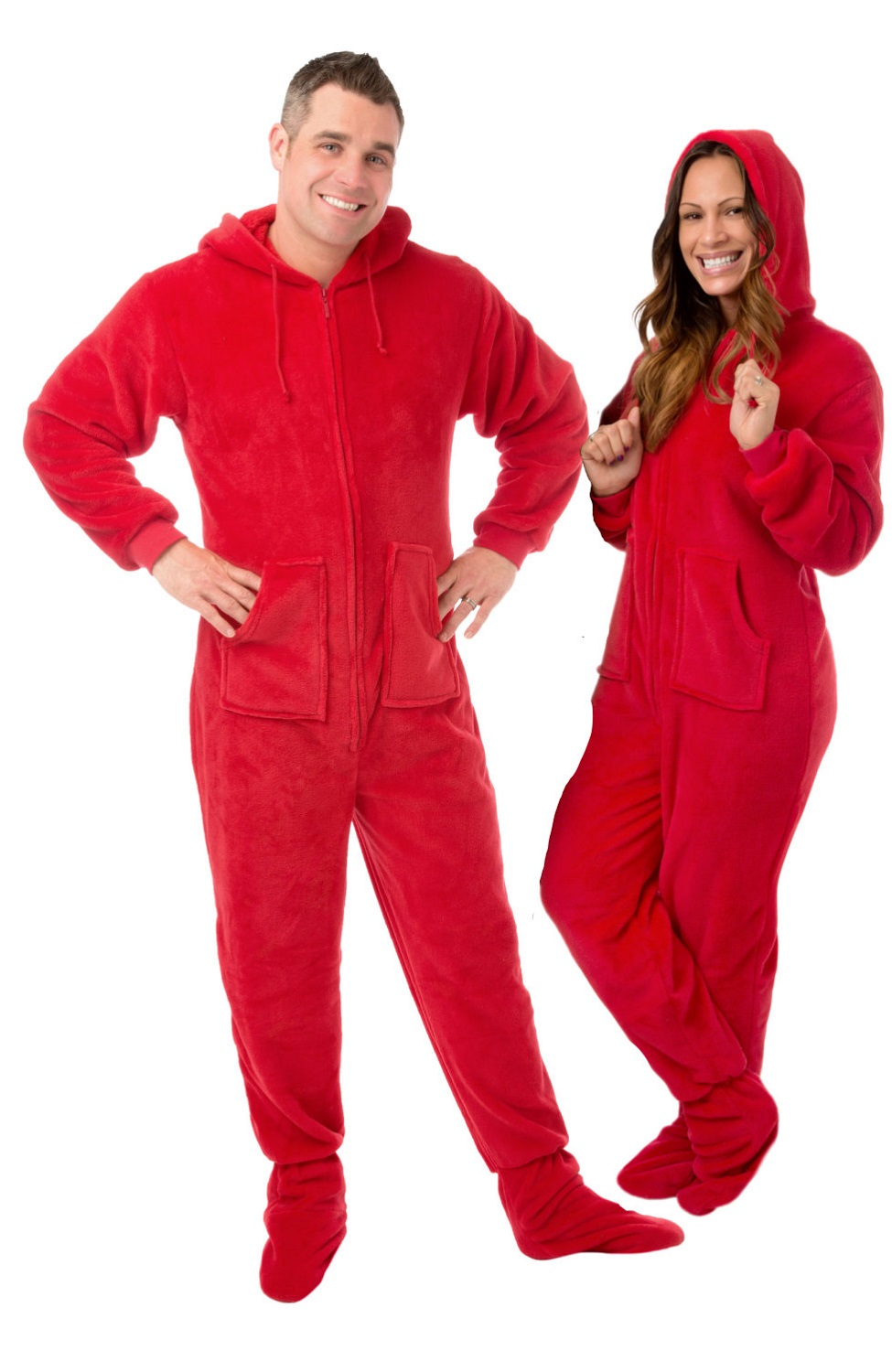 9f91d06d62 Plush Hooded Pajamas  Big Feet Onesie Footed Pajamas
