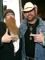 Billy Gibbonsof ZZ Top and Toby Keith's Pajamas