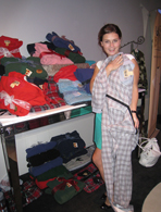 Alexandra Chando's footed pajamas