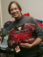 Kevin Sorbo's footed pajamas