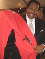 Leslie David Baker's footed pajamas