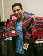 Mario Lopez's footed pajamas