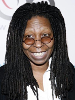Whoopi Goldberg's footed pajamas